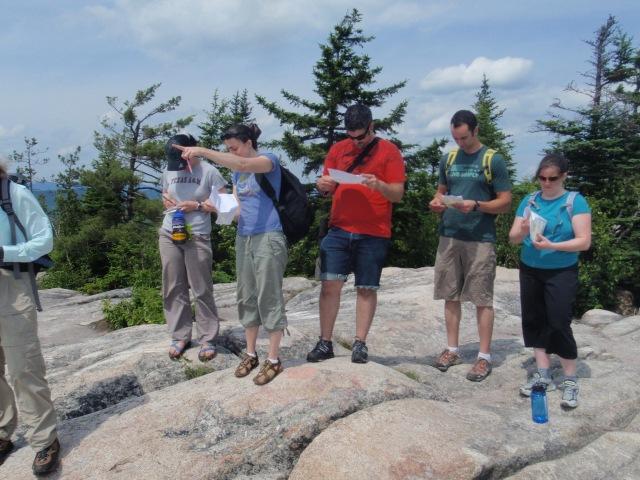 On the summit of Black Cap we ran through a few more scenarios...