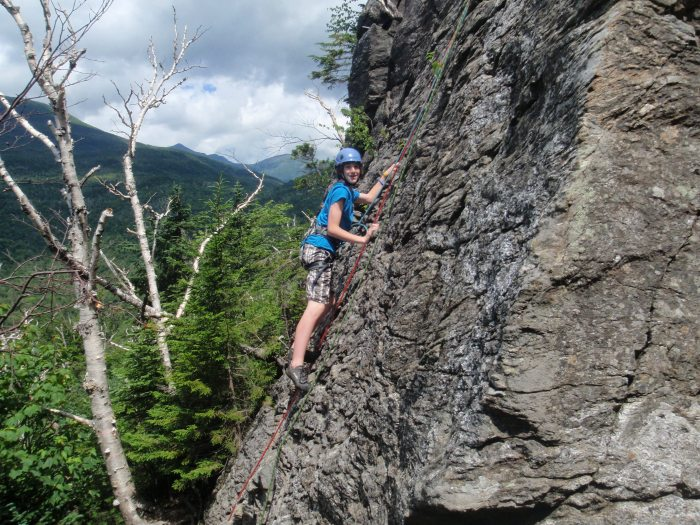 The West Face has a few fun climbs with ample holds...