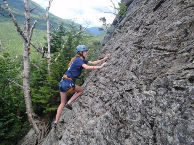 Classic climber pose...