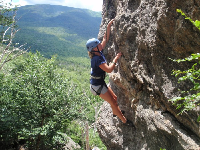 """Tess works on the steepest route of the day, """"The Brain"""""""
