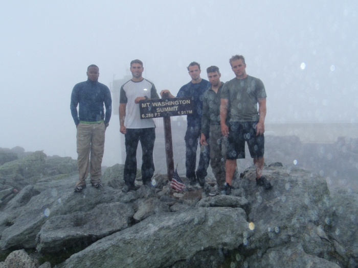 After our training in the Ravine we hit the summit