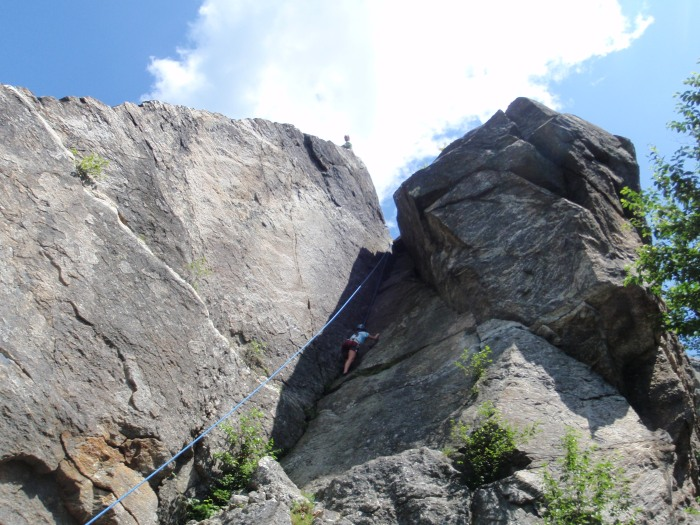 "The 2nd climb we did is the appropriately named ""Chimney"", rated 5.6"
