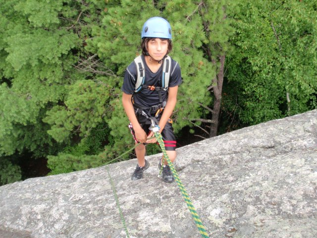 Andy on rappel...