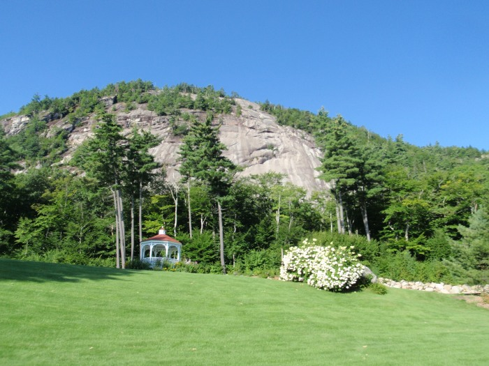 Whitehorse Ledge in North Conway is about 900 feet tall...