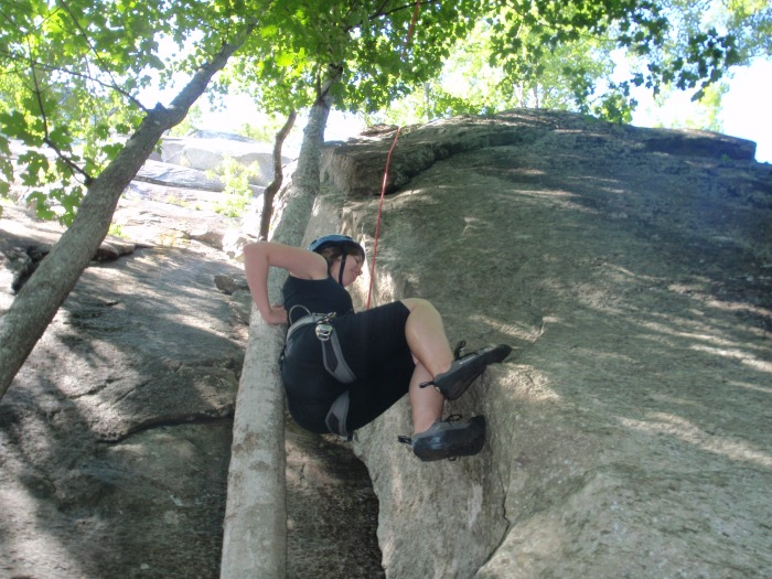 A new sport combining rock climbing with tree climbing!