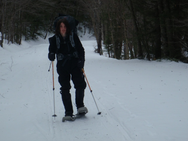 Flat terrain made traveling quick... a good warm up while snowshoeing...