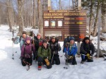 The class on our 3rd day en-route to Tuckerman Ravine.