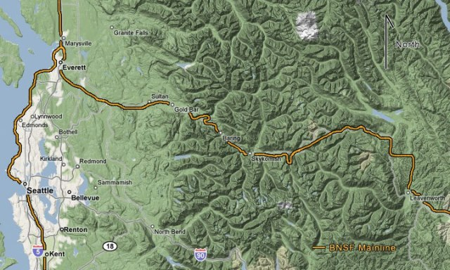 Steven's Pass is on Route 2, about 2 hours east of Seattle, between Skykomish and Leavensworth