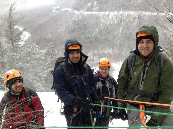 Hanging at a belay