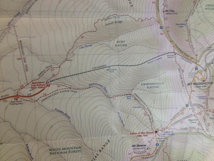 The Cog ascends the ridge between Burt and Ammonoosuc Ravine