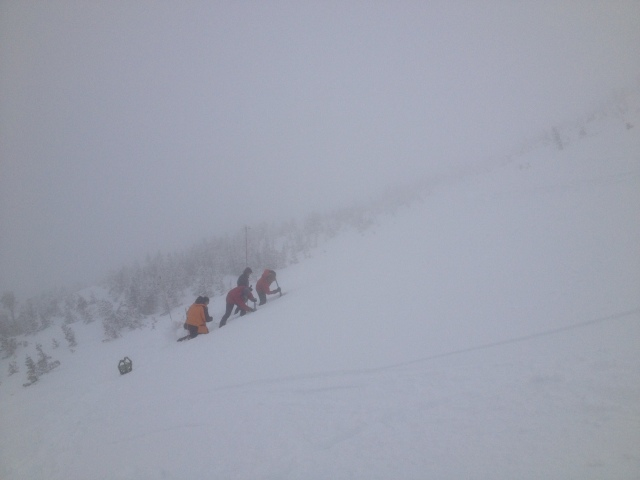285cms of snow just left of Jacob's Ladder