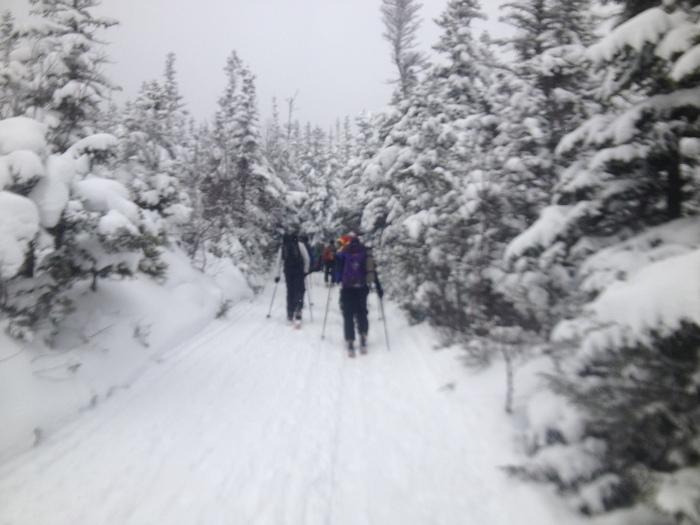 Heading up the Tuckerman Ravine trail