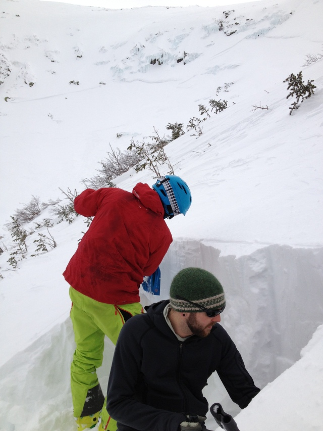 Checking out the layering on a 34 degree SSE slope at 4,400ft