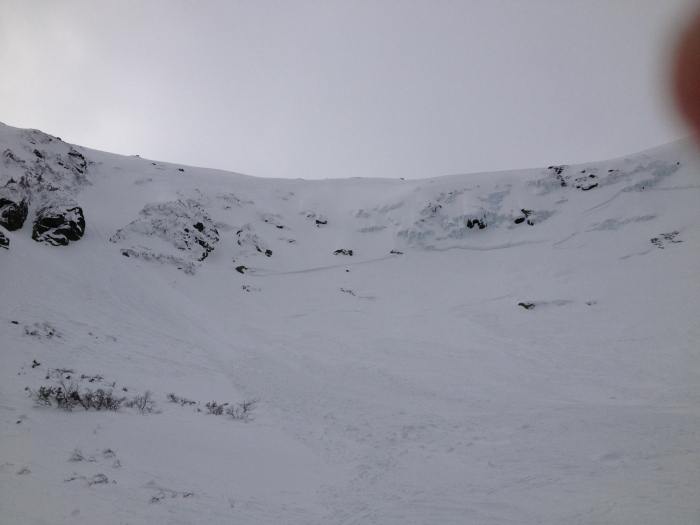A shot of the crown before descending the Little Headwall