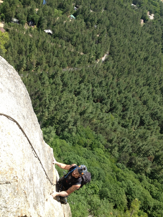 Alan near the top of Pitch 3, Upper Refuse