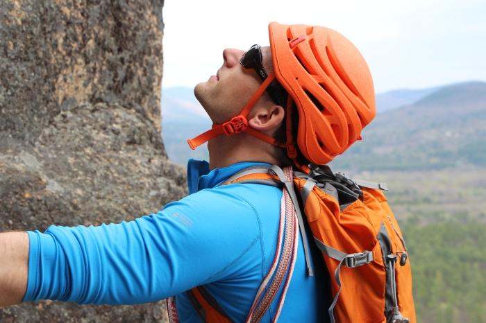 Eastern Mountain Sports Climbing Guide Keith Moon rockin' the Sirocco