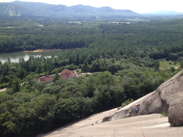600 feet of slab climbing is a great warm-up