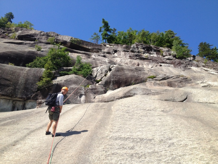 Rappelling from Lunch Ledge
