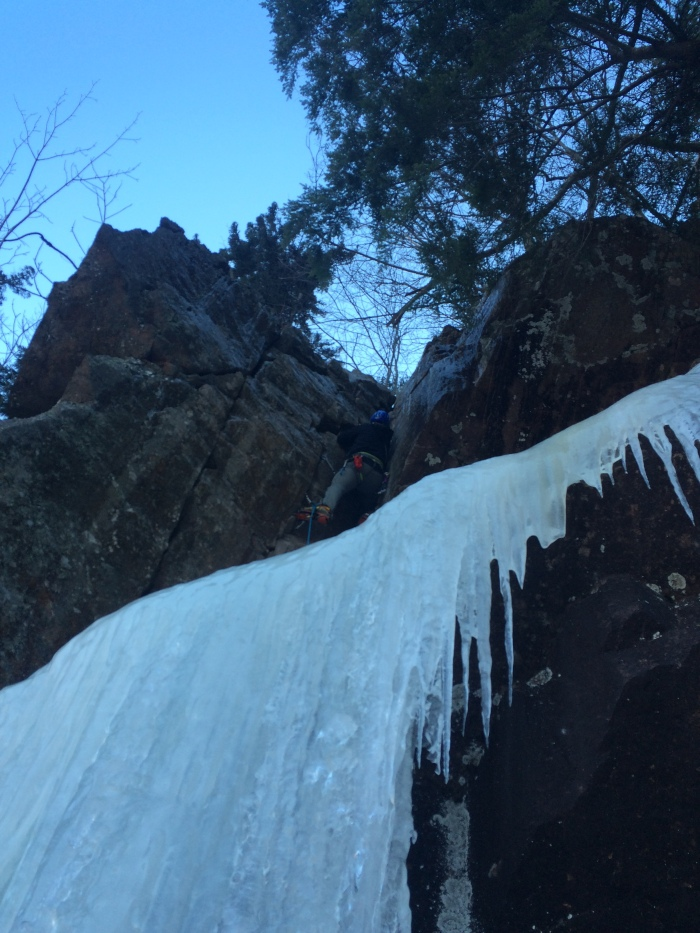 Some of the coolest rock climbing in ice gear I have ever done...