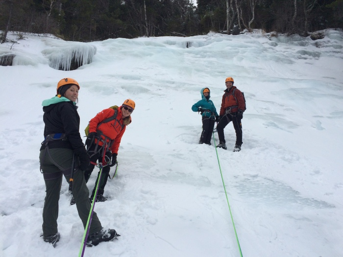 At the top and preparing to rappel
