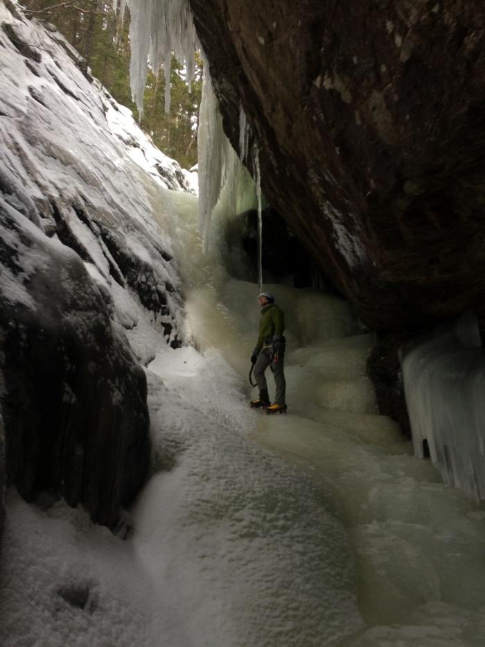 An interesting icicle has been the subject of other climbers FB posts lately :)