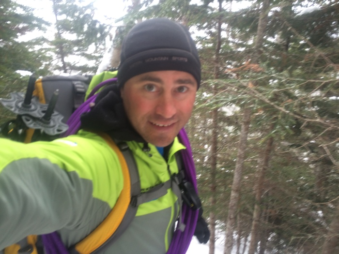 Selfie just below tree-line...