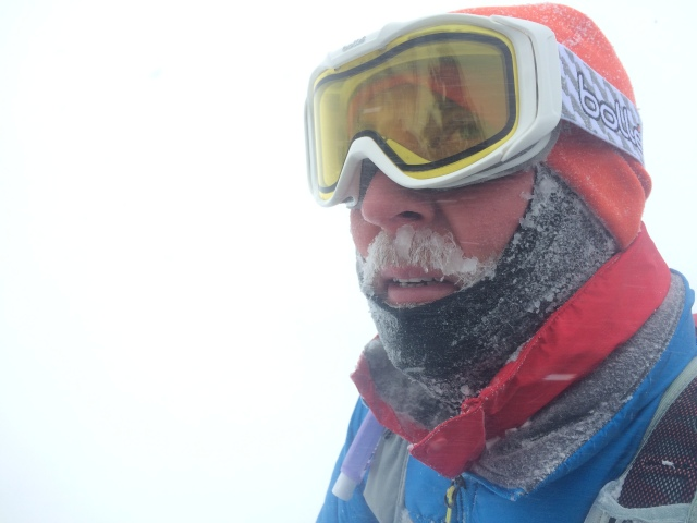 The frozen stache' of George at Split Rock...