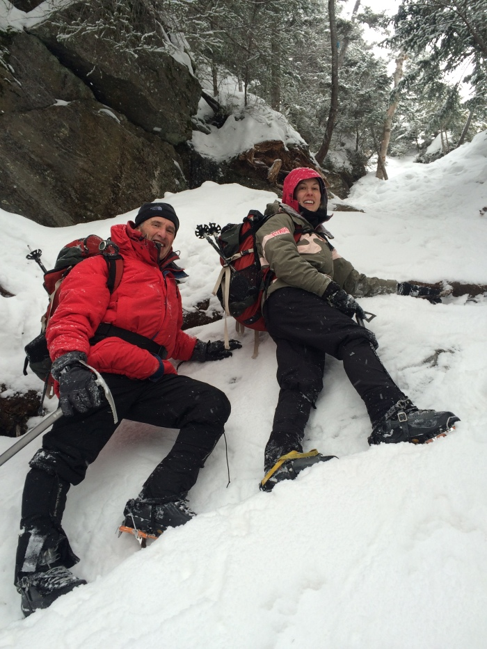 Tackling the steeps of the Winter Lion's Head Trail