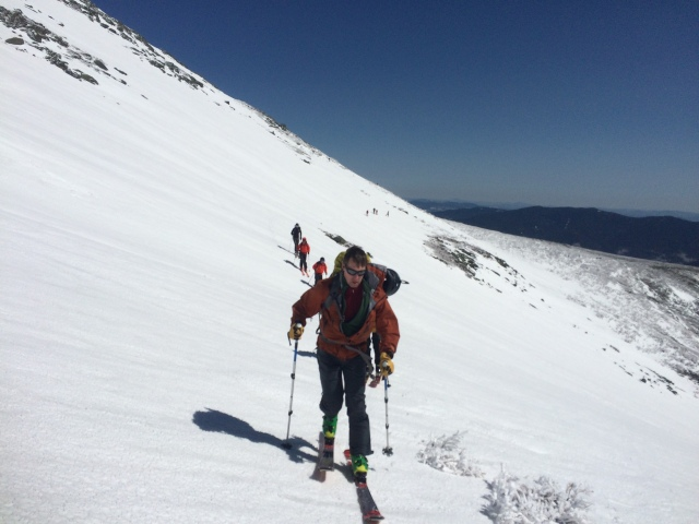 Brendan crosses above Tuckerman Ravine