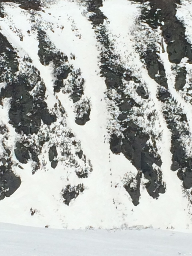 A zoomed in shot of Lobster Claw Gully