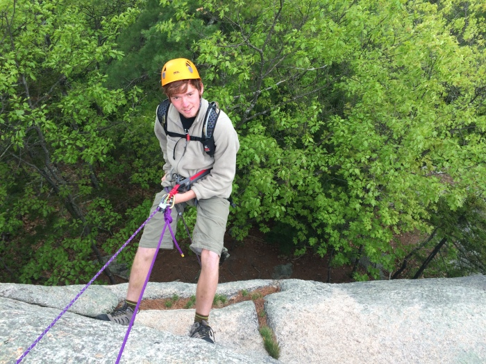 Cole's first rappel