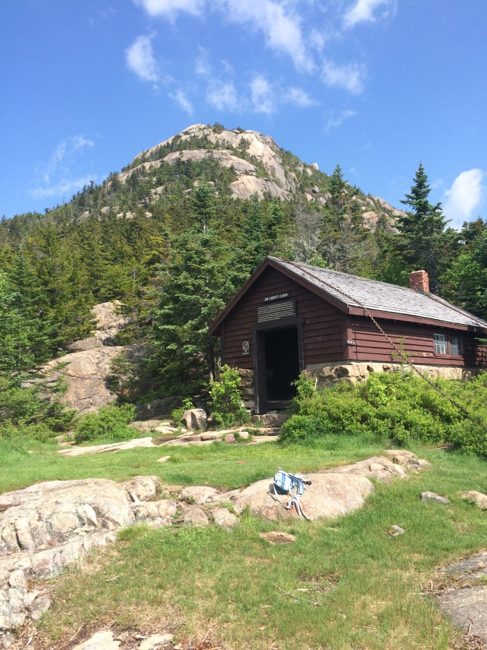 Jim Liberty Cabin sits about 500 feet and half a mile below the rocky prominence of Chocorua's summit