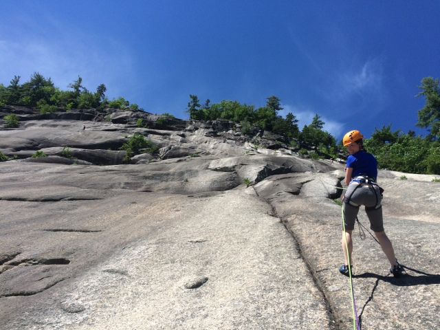 Rappelling from pitch 4 of Begineer's Route