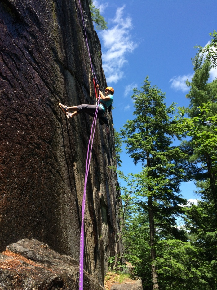Rappelling the Barber Wall