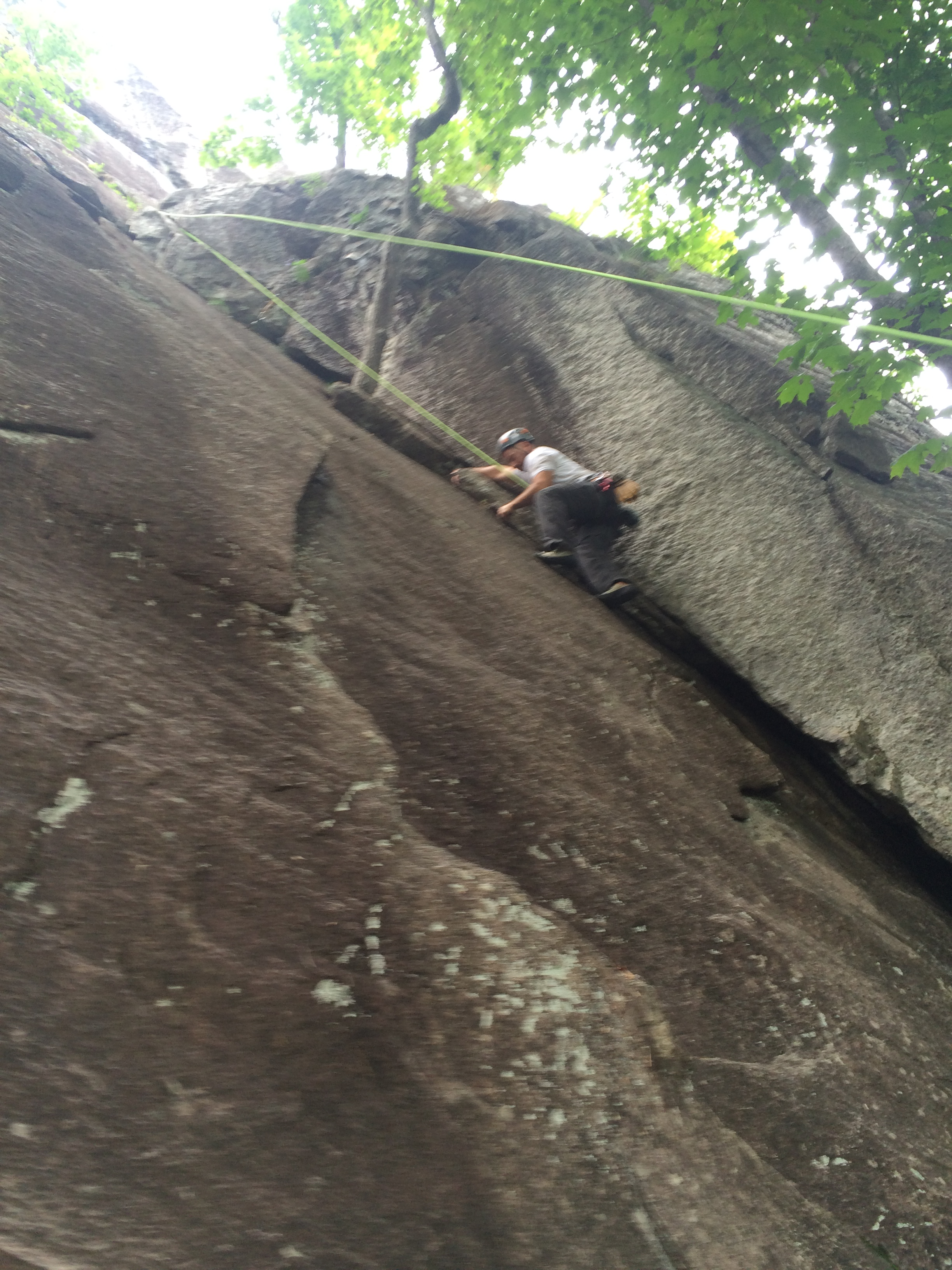 Hardy liked climbs with big hand holds... if you got guns might as well use them!