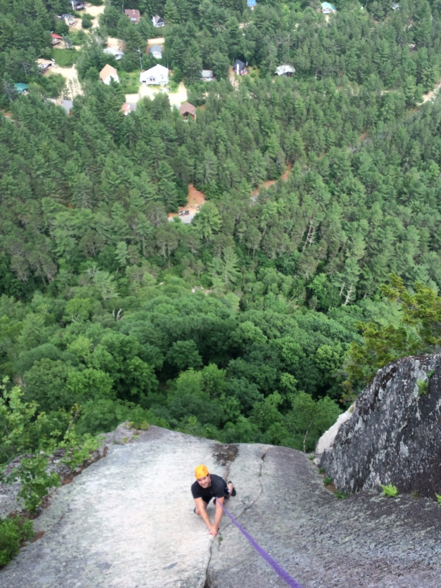 Classic climbing + outlandish exposure = FUN