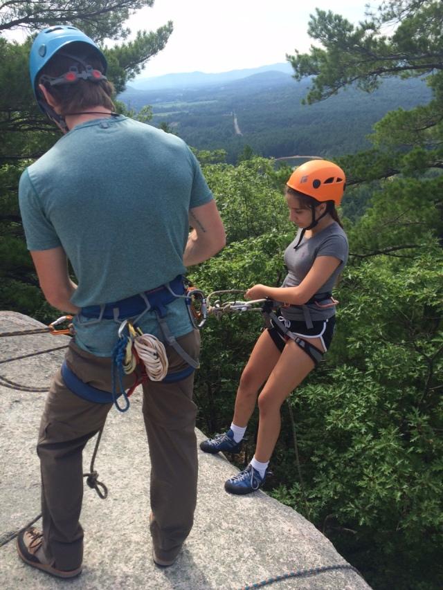 Sophia goes over the edge