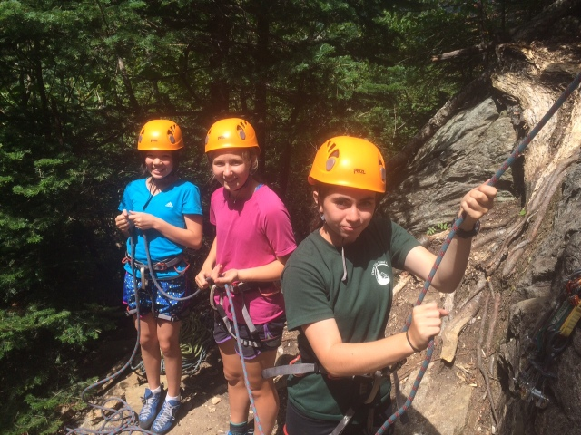 The girls rocked at belaying through-out the three days