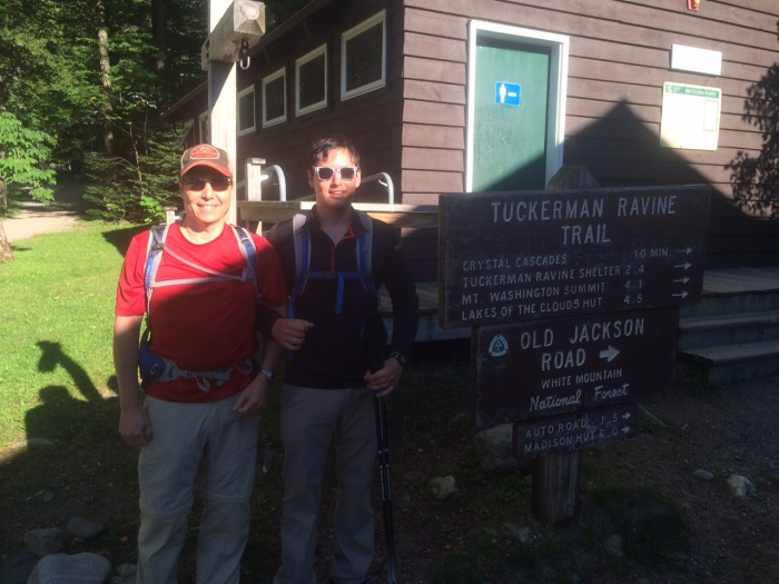 Hitting the trail from Pinkham Notch Visitor Center