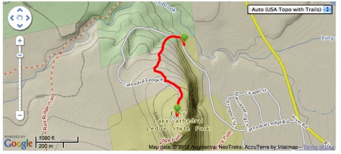 Cathedral Ledge Mountain Bike Trail, the quick way down