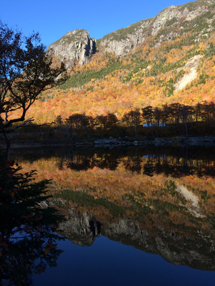 Hounds Hump Ridge and the striking Eaglet, reflected in Profile Lake