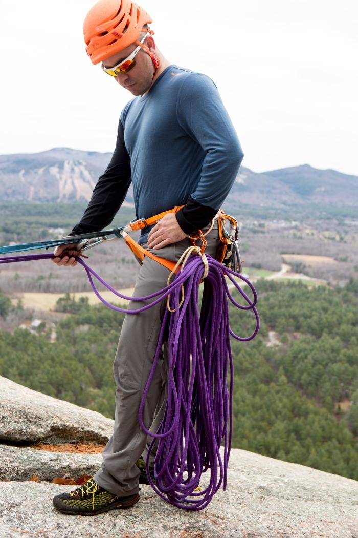 Saddlebagging your Rappel Ropes