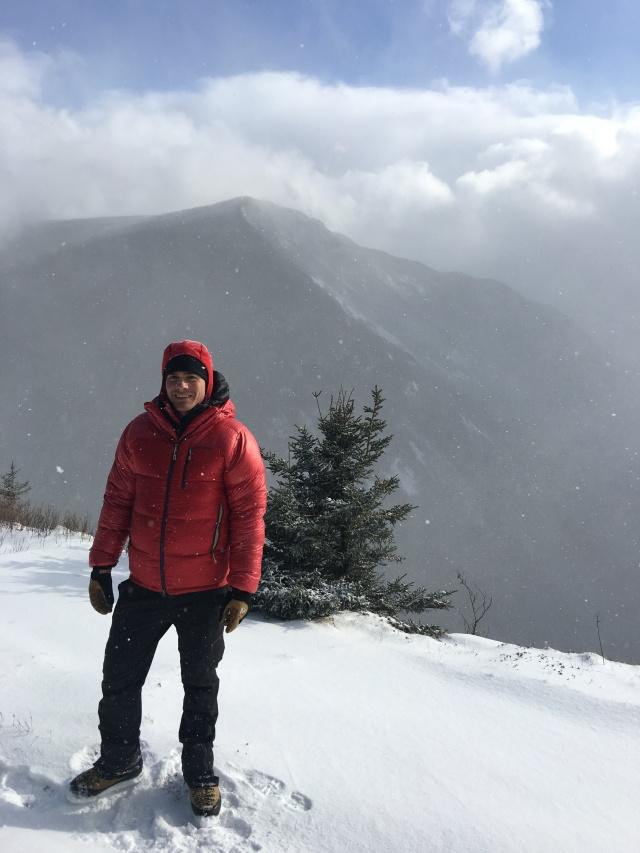 Tom on Mt. Willard with Mt. Webster behind