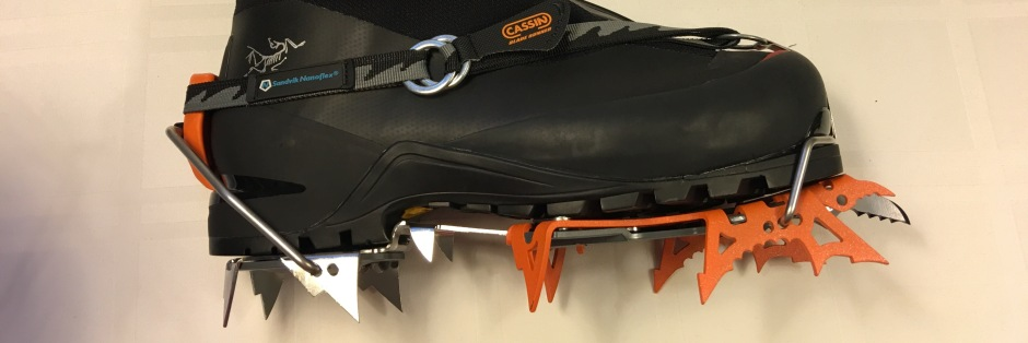 Arcteryx AR Mountaineering Boots and Cassin Blade Runner Crampons