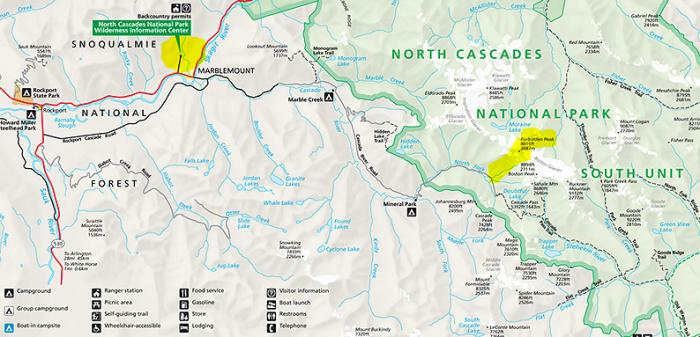 Forbidden Peak Map