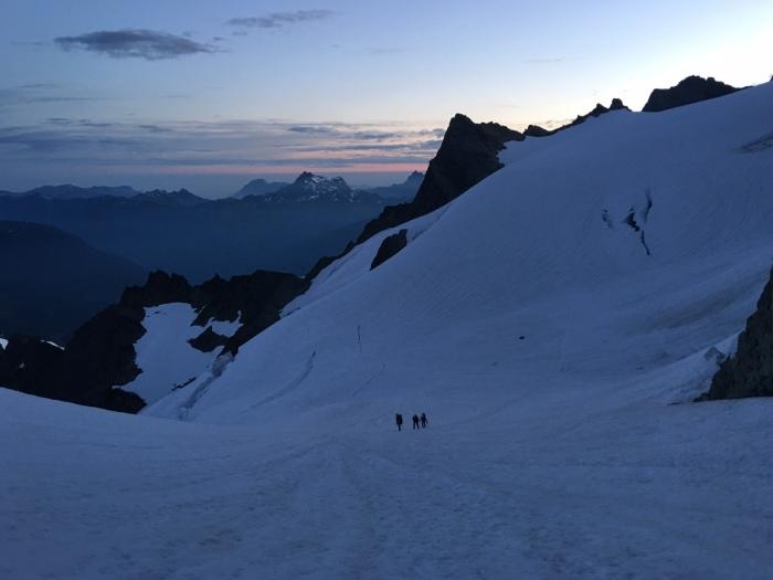 Crossing the Upper Curtis Glacier, Mount Shuksan