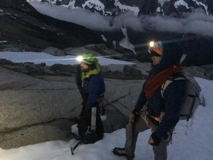 Alpine start, Boston Basin, Forbidden Peak