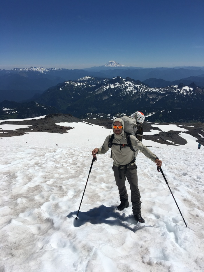 Climbing Muir Snowfield, Mount Rainier