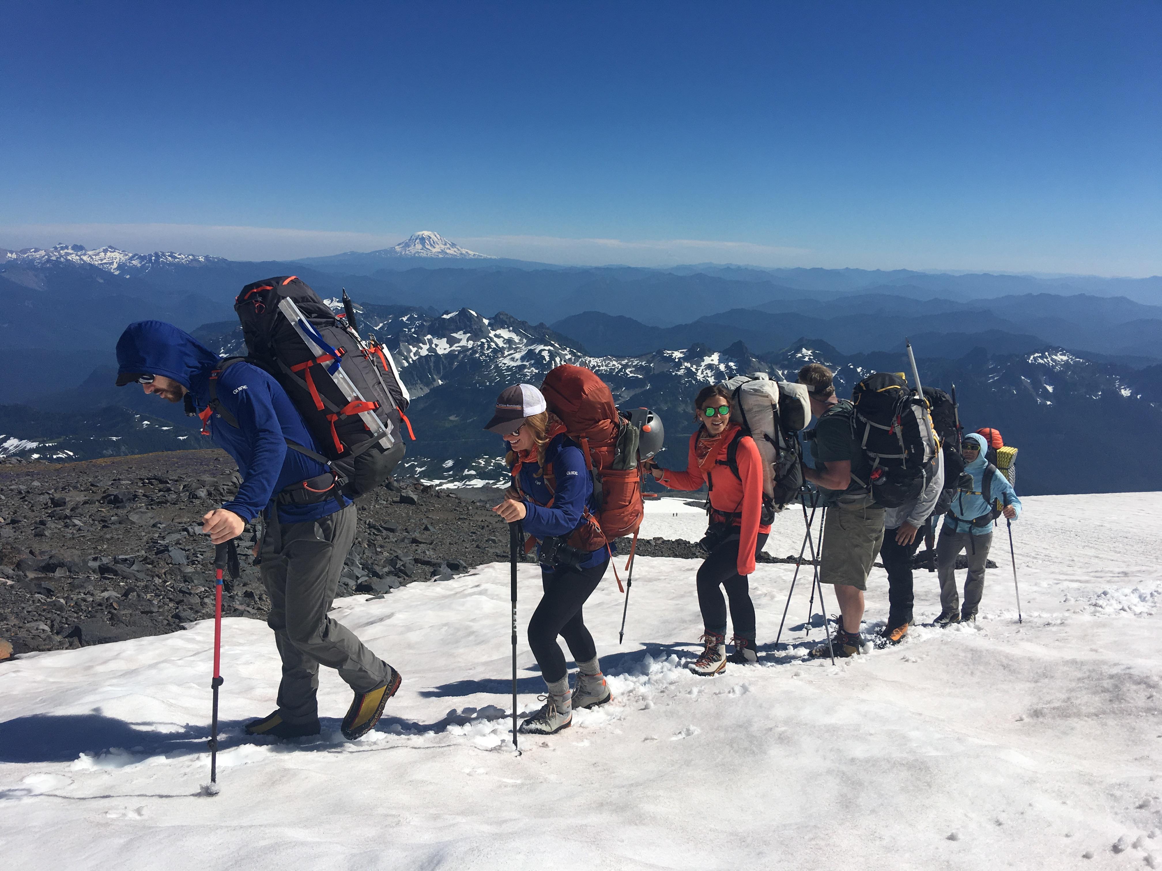 Climbing Muir Snowfield, Mount Rainier