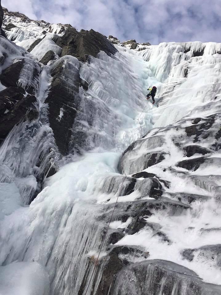 ice climbing Tuckerman Ravine